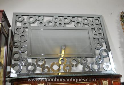 Art Deco Glasmantel Spiegel Landschaft Porträt Spiegel