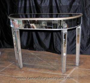 Art Deco Gespiegelte Console Tabelle Spiegel Möbel