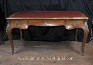 Französisch Antique Bureau Plat Schreibtisch Reich Writing Table