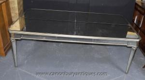 Große Art Deco Gespiegelte Esstisch Spiegel Tische Schreibtisch Möbel