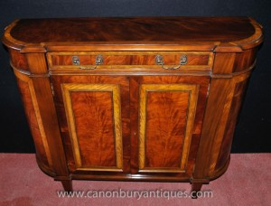 Regency Mahagoni Anrichte Flamme Satinwood Buffet Server Hutch