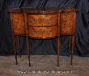 Regency Walnut Brandy Sideboard Server Buffet