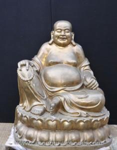 XL Bronze Glückliche Bronzebuddha Lach Statue Budai Buddhismus Buddhist