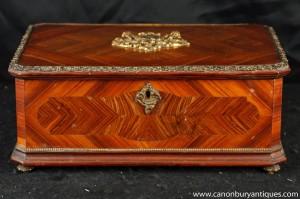 Antique Französisch Reich Holzbox Kingwood Circa 1880 Schmuckkoffer