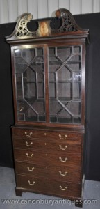 Antique George III Bureau Bücherregal Schreibtisch Mahagoni