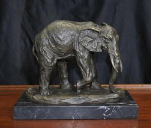 Bronze African Elephant Statue Tiere Castings Elephants Stammeskunst