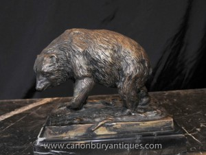 Bronze Bär Statue Signiert Prince Braunbären Tiere Casting