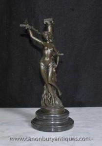 Bronze Casting Französisch Heldin Jeanne d'Arc Semi Nude