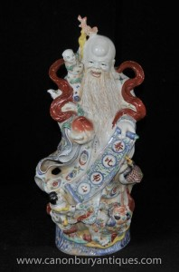 Chinese Qing Porzellan Wise Man Figurine Keramik Statue