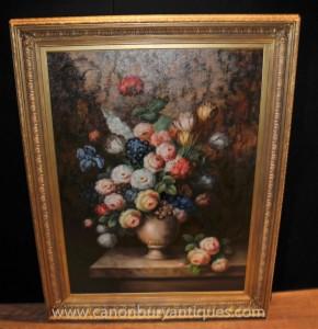 Dutch Ölgemälde Vivid Blumen-Stillleben Blumen-Kunst-
