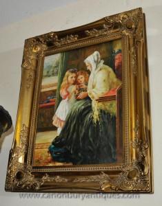 Englisch viktorianischen Ölmalerei Gilt Frame Kunst