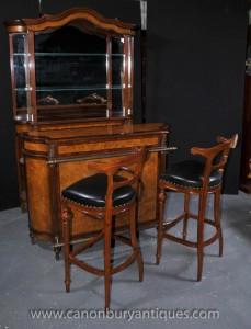 Englisch viktorianischen Bar Set Server Hocker Cabinet Pub