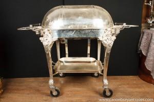 Englisch viktorianischen silberne Platte Rindfleisch Trolley Serving Table Restaurant Carvery