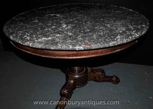 Französisch Antique Gueridon Round Center Tisch 1830 Reich Esstisch