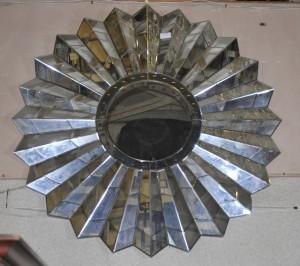 Französisch Art Deco Star Burst Spiegelglas Spiegel