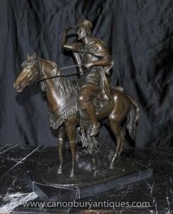 Französisch Bronze Arab zu Pferd Signiert F Palutrot Pferdestatue Casting