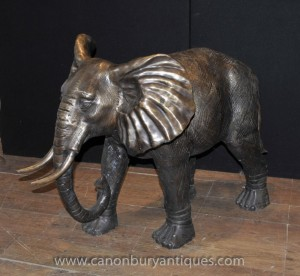 Große Bronze Elephant Statue Architekturgartenkunst