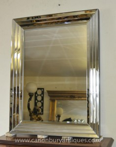 Große Glas Art Deco Spiegel 1920 Interiors