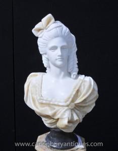 Hand geschnitzte Victorian Maiden Büste Weibliche Statue Kunst
