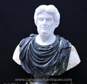 Hand geschnitzte italienischen Marmor-Büste römischen Kaiser Titus Atoninus Pius