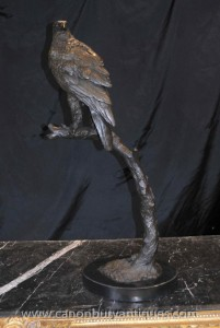 Hoch Bronze Golden Eagle Statue Perch Vogel Prey Sculpture