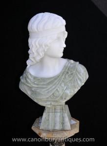 Italienische Marmor-Büste griechischen Göttin Athene Stein geschnitzte Statue