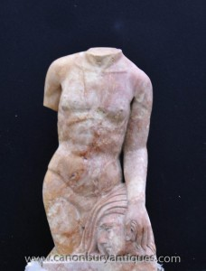 Italienische Marmorstatue Torso Leiter Medusa-Mythos Kunst
