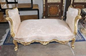 Louis XV Gilt Hocker Sitz Chaise Französisch Stühle