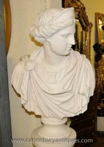Marmor Harz Bust Athena griechische Göttin Statue