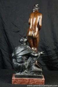 Nude Female und Male arabischen Bronze-Statue-Figürchen