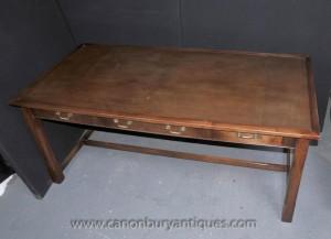Oak Schreibtisch Schreibtisch Bureau Plat Bauernhof Kitchen Refektorium Tabellen