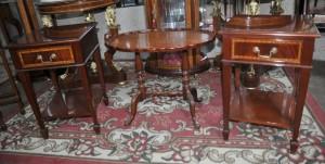 Pair Regency Mahagoni Beistelltische Nachttische Nachtschränke Tabelle