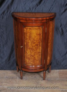 Regency Demi Lune Cabinet Chest Nussbaum Mahagoni