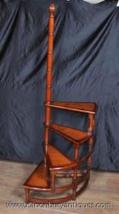 Victorian Bibliotheksleiter Stufenleitern Walnut Stair
