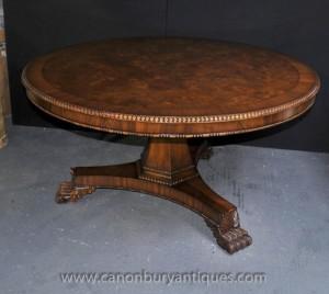 Victorian Center Tisch Round Esstische Nussbaum-Center