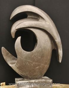 XL italienischen Marmor Abstrakte Kunst Dolphin modernistische Skulptur Statue