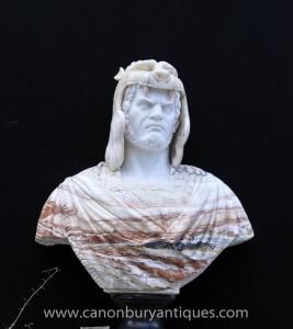XL italienischen Marmor-Büste nordischen Krieger geschnitzt Spiel Thrones Sculpture