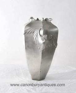 Art Deco Bronze Gothic Bat Vase Urne