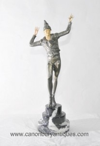 Chiparus Art Deco Ballets Russes Männliche Figur Statue Dancer