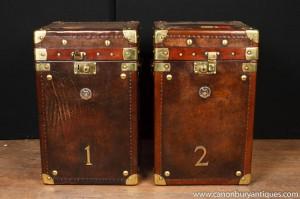 Leder-Dampfer-Stamm Beistelltische Gepäck Box Coffee Table