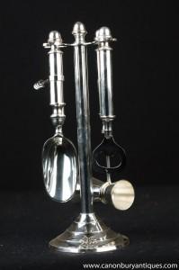 Silberne Platten-Bar Zubehör Set Flaschenöffner Ice Fork Measure