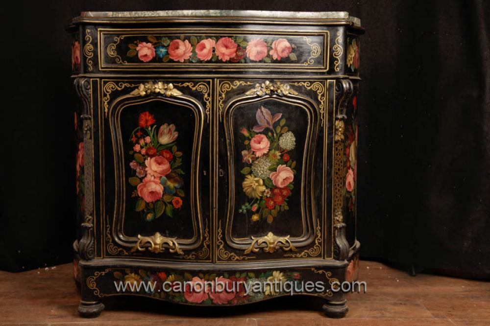 Antique Französisch Lack Cabinet Kommode Sideboard circa 1880