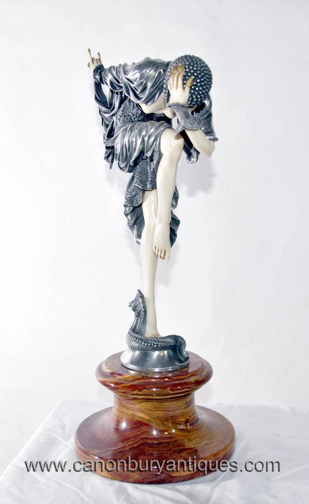 Art Deco Figur Snake Dancer Demetre Chiparus