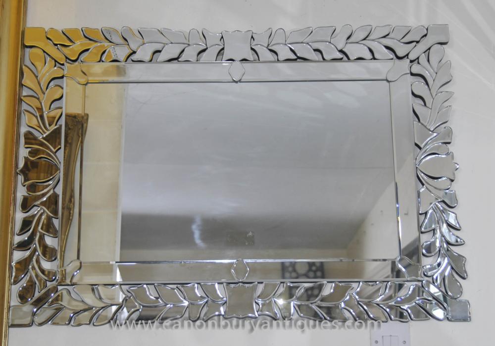 Art Deco Floral Mantle Spiegelglas Spiegel
