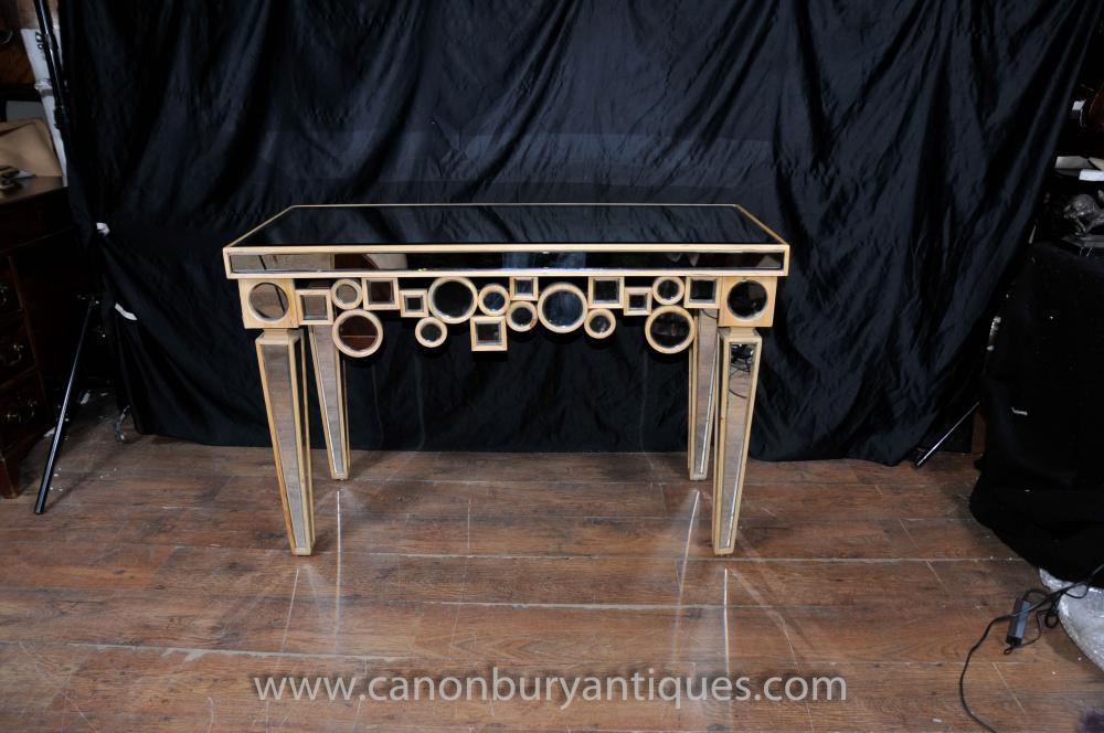 Art Deco Gespiegelte Console Table Halle Tabellen Borghese Möbel