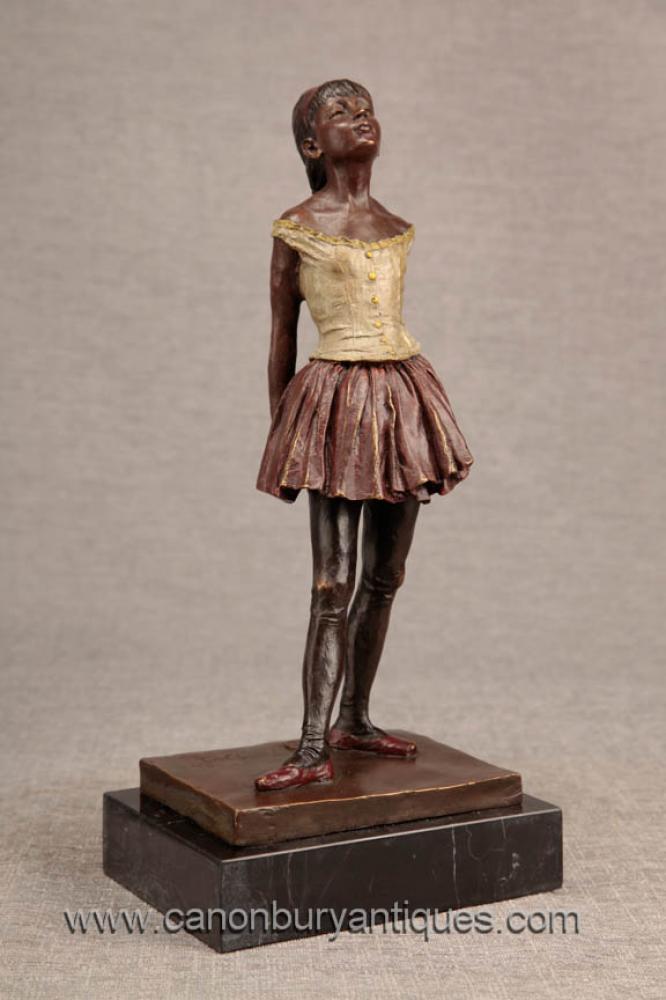Französisch Bronze Degas Ballerina-Mädchen-Statue-Figürchen Ballet Dancer