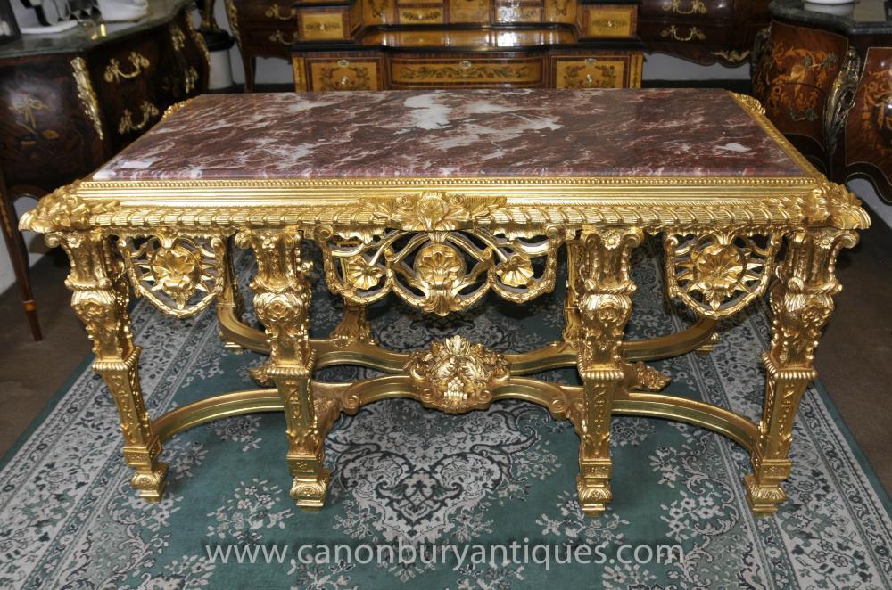 Französisch Louis XV Gilt Console Table Tabellen Barocksaal