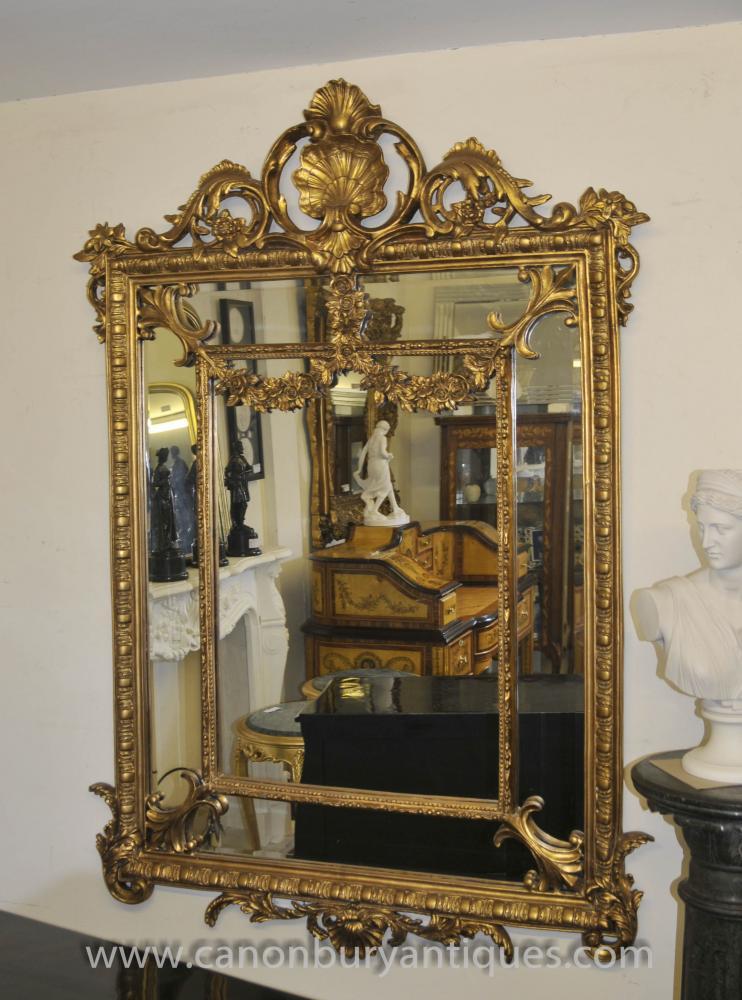 Französisch Louis XV Rococo Spiegel vergoldeten Spiegeln