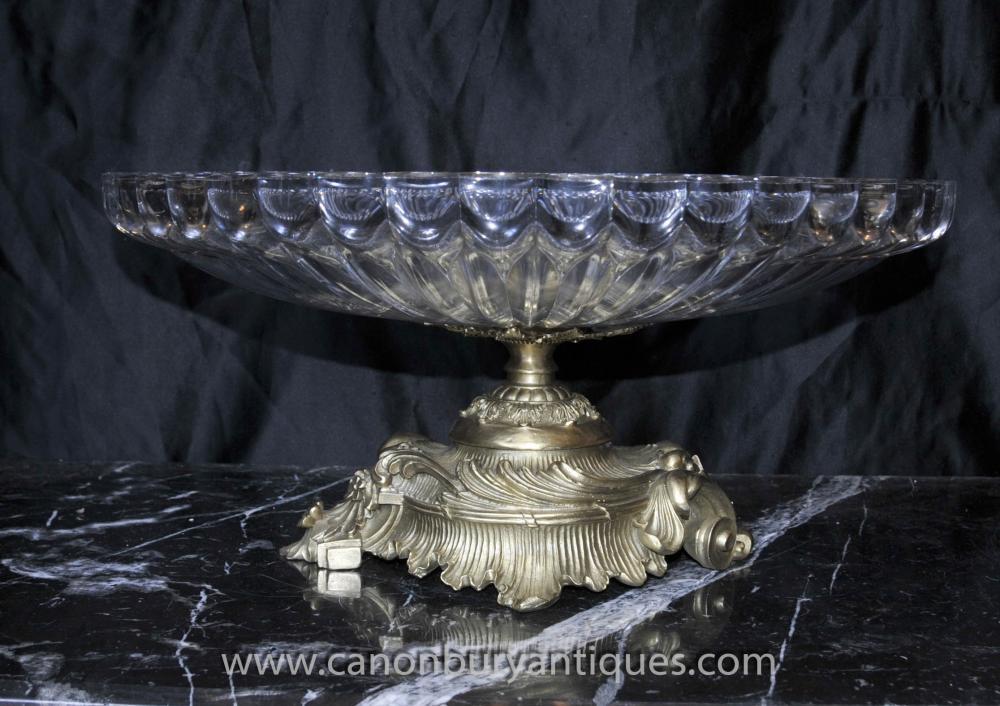Französisch Reich Kristallglasschale auf Ständer Terrine Dish