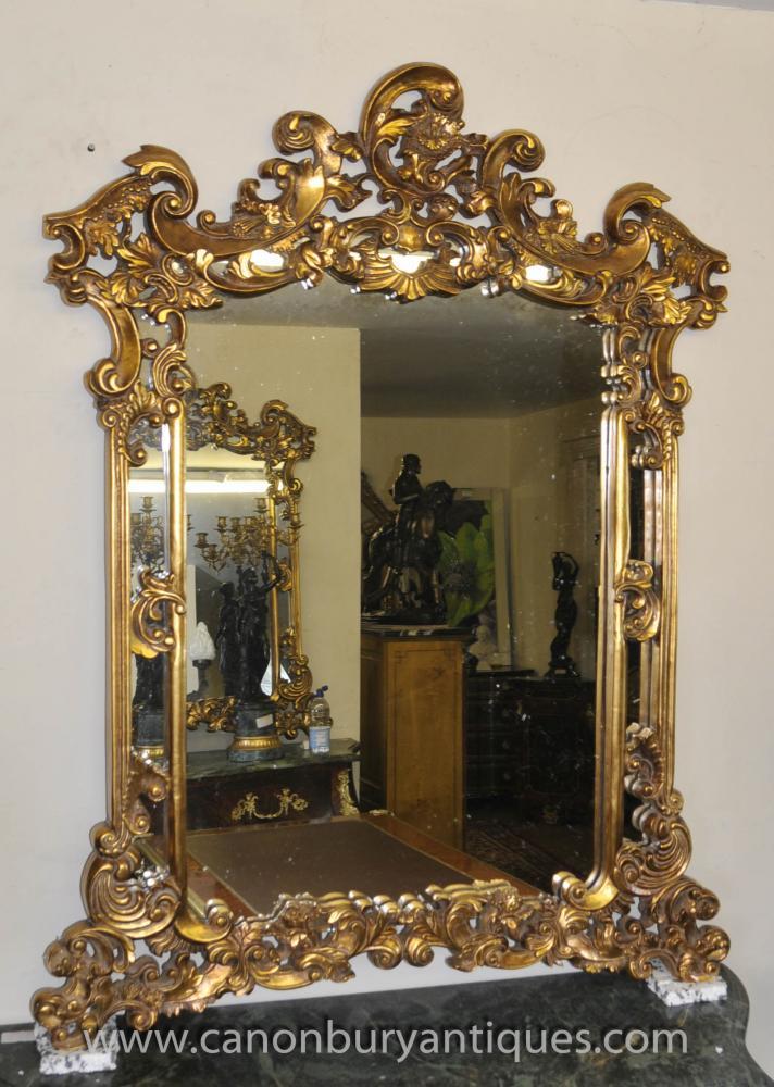 Französisch Rokoko Louis XV Gilt Pier Spiegel Mantle Mirrors